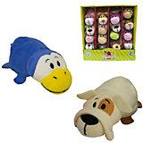 Мягкая игрушка-вывернушка 1toy Бульдог-Пингвин, 12 см