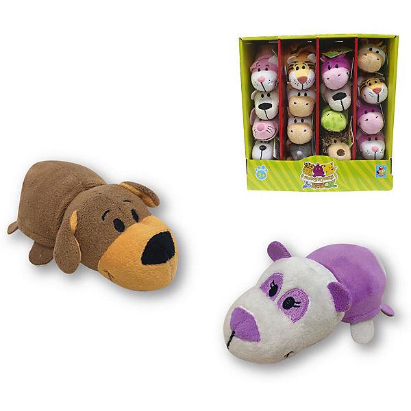 Мягкая игрушка-вывернушка 1toy Коричневая собака - Фиолетовая панда, 12 см