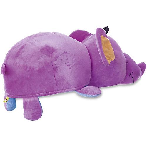 Мягкая игрушка-вывернушка 1toy Голубой щенок - Фиолетовый слон, 76 см от 1Toy