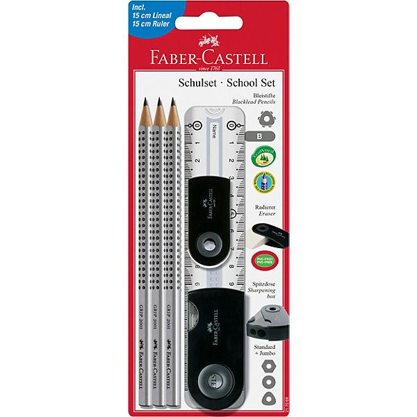 Специальный набор с карандашами Faber-Castell «Grip 2001», серый