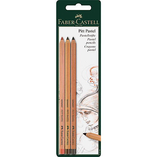 "Пастельные карандаши Faber-Castell ""Pitt Pastel"" 03цв., блистер от Faber-Castell"