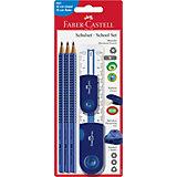 Специальный набор с карандашами Faber-Castell «Grip 2001», синий