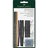 """Набор угля и угольных карандашей Faber-Castell """"Pitt Charcoal"""" 10 предметов, блистер"""