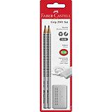 Набор карандашей Faber-Castell «Grip» + ластик