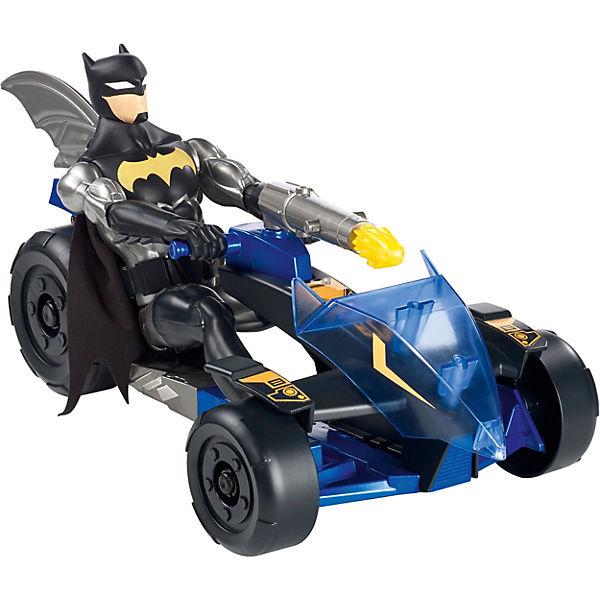 Mattel DC Justice League Action-Jagd Batman Figur und Knight-Runner Fahrzeug, DC Super Heroes