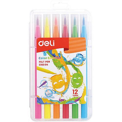 """Фломастеры Deli """"Color Emotion"""", 12 цветов от Deli"""