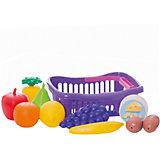 """Игровой набор Dohany """"Овощи и фрукты"""" в малой корзине, бордовый"""