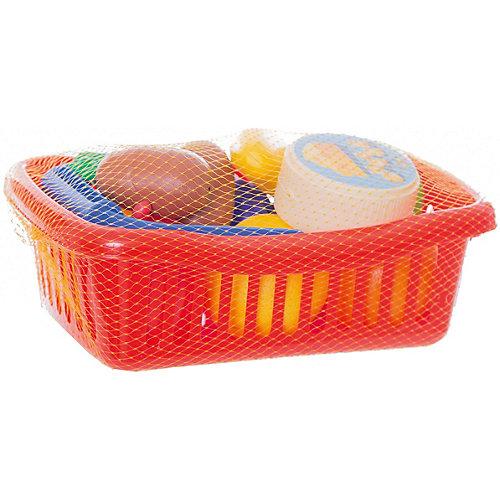 """Игровой набор Dohany """"Овощи и фрукты"""" в малой корзине, красный"""