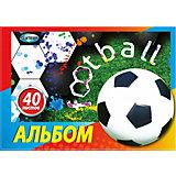 Альбом для рисования Centrum «Футбол», на спирали А4, 40 листов