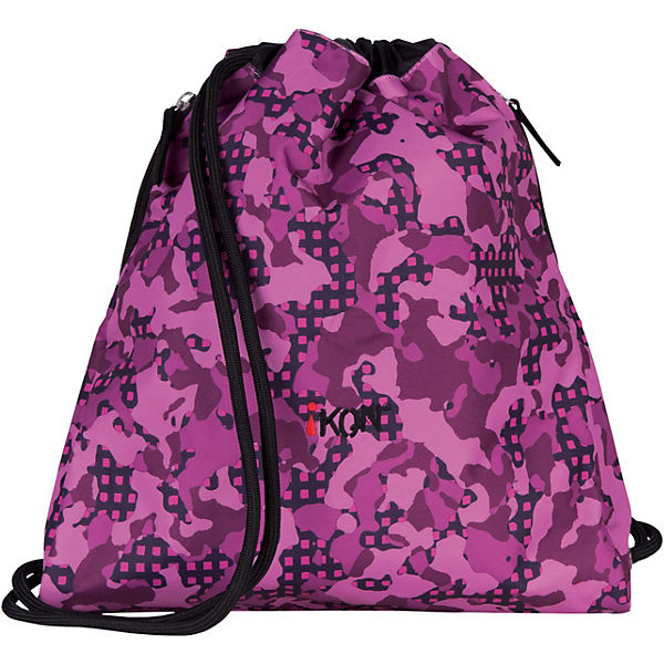 iKON Sportbeutel Cinch Bag Purple Camouflage