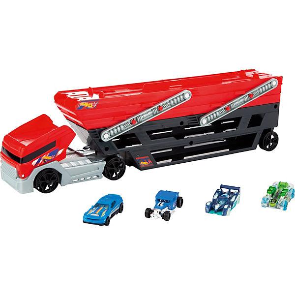 Hot Wheels Mega Truck Inkl 4 Die Cast Fahrzeuge Hot Wheels Mytoys