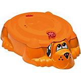 """Песочница-бассейн PalPlay """"Собачка с крышкой"""", оранжево-красная"""