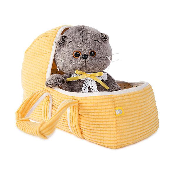Мягкая игрушка Budi Basa Кот Басик Baby в люльке, 20 см