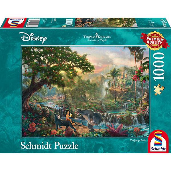 Puzzle 1000 Teile Thomas Kinkade Disney Dschungelbuch Disney
