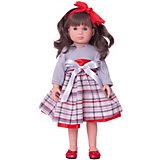 """Классическая кукла Asi """"Нелли"""" в сером платье, 40 см"""