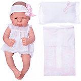Кукла-реборн Asi Лючия в белом костюмчике 40 см, арт 323950