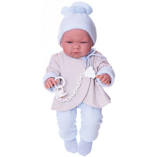 "Кукла-реборн Asi ""Пабло"" в голубом костюмчике, 43 см от Asi"