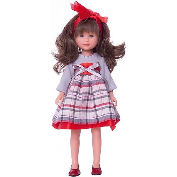 """Классическая кукла Asi """"Селия"""" в сером платье, 30 см"""