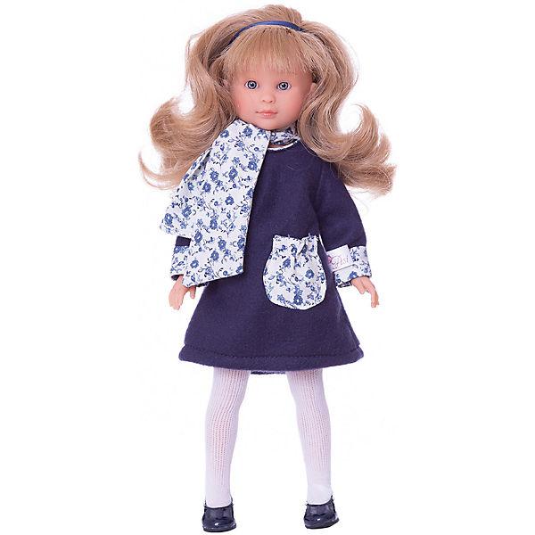 """Классическая кукла Asi """"Селия"""" в синем пальто, 30 см"""