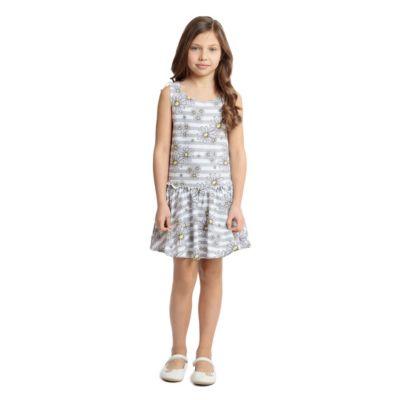 Платье PlayToday для девочки - серый