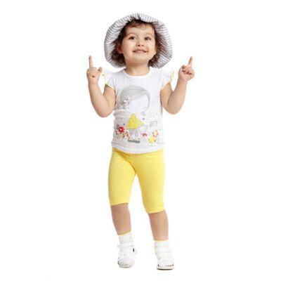 Майка PlayToday для девочки - белый