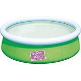 Бассейн с надувным бортом цветной, Bestway, зеленый