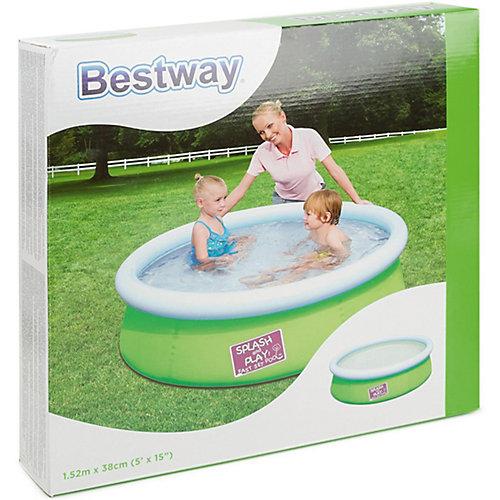 Бассейн с надувным бортом цветной, Bestway, зеленый от Bestway
