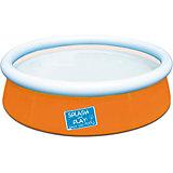 Бассейн с надувным бортом цветной, Bestway, оранжевый
