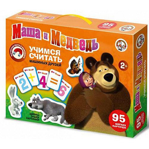 """Магнитная игра Десятое королевство """"Маша и Медведь"""" Учимся считать, 95 элементов"""