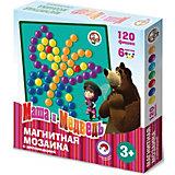 """Магнитная мозаика с аппликациями Десятое королевство """"Маша и Медведь"""", 120 элементов"""