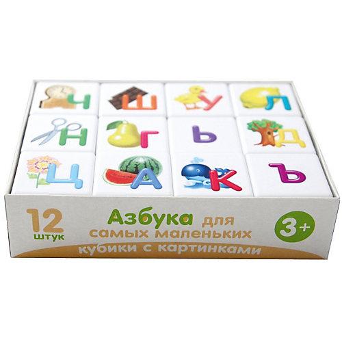 """Кубики Десятое королевство """"Учись играя"""" Азбука для самых маленьких 12 шт., без обклейки от Десятое королевство"""