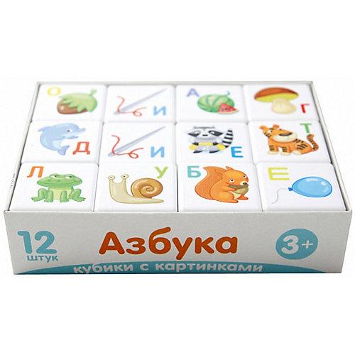 """Кубики Десятое королевство """"Кубики для умников"""" Азбука 12 шт., без обклейки от Десятое королевство"""