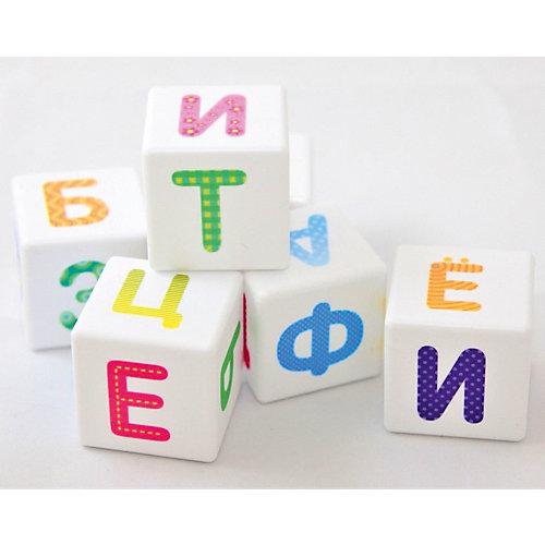 """Кубики Десятое королевство """"Школа дошколят"""" Весёлый алфавит 12 шт., без обклейки от Десятое королевство"""