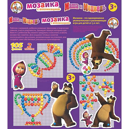 """Мозаика с аппликациями Десятое королевство """"Маша и Медведь"""", 105 элементов от Десятое королевство"""