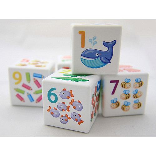 """Кубики Десятое королевство """"Кубики для умников"""" Арифметика 12 шт., без обклейки"""