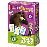 "Касса цифр на магнитах Десятое королевство ""Маша и Медведь"", 72 элемента"