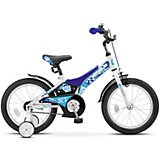 "Велосипед Stels Jet 16""/9"" Z010, сине-белый"