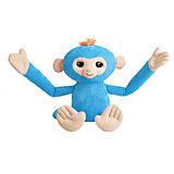 Обезьянка-обнимашка WowWee Fingerlings, голубая