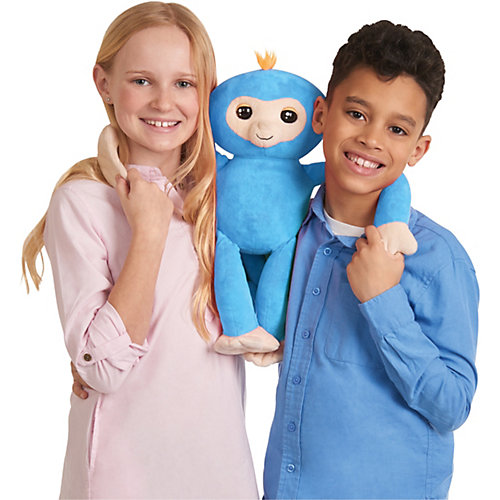 Обезьянка-обнимашка WowWee Fingerlings, голубая от WowWee