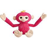 Обезьянка-обнимашка WowWee Fingerlings, розовая