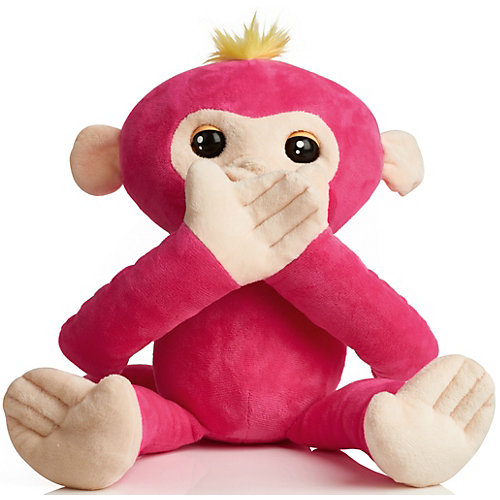 Обезьянка-обнимашка WowWee Fingerlings, розовая от WowWee