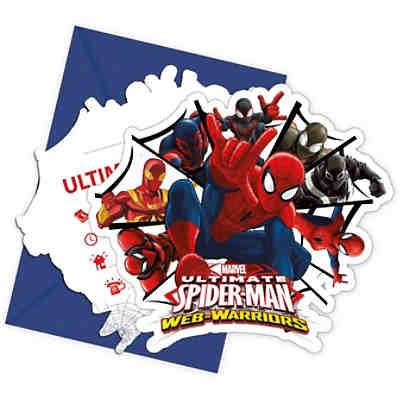 einladungskarten mit umschlägen ultimate spiderman web