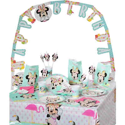 Partyset Minnie Mouse Tropical, 56-tlg.