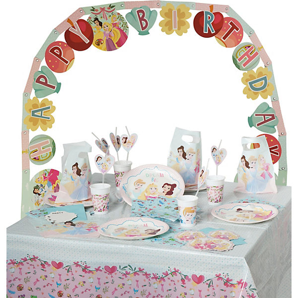 Partyset Disney Princess Dare to dream, 56-tlg.
