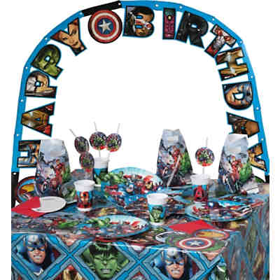 Partyset Marvel Avengers Mighty, 50-tlg.