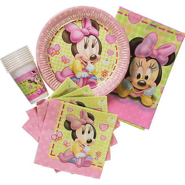 Partyset Minnie Mouse Baby, 37-tlg.
