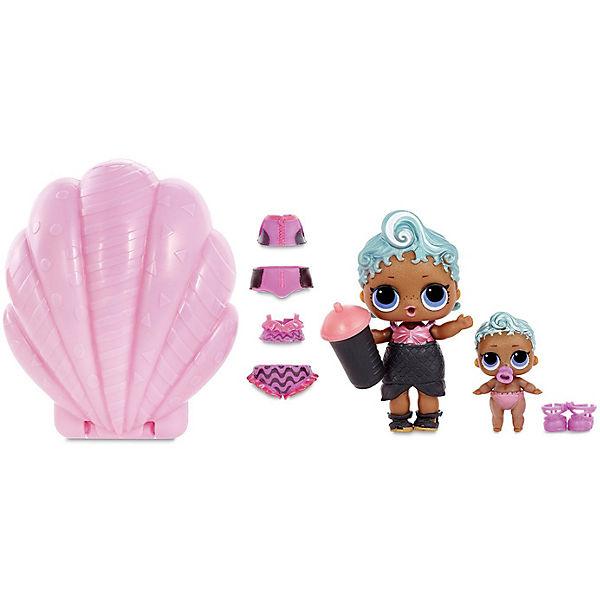 Мини-кукла сюрприз MGA Entertainment LOL Lil Sisters Основная кукла и сестренка (в фиолетовой жемчужине)
