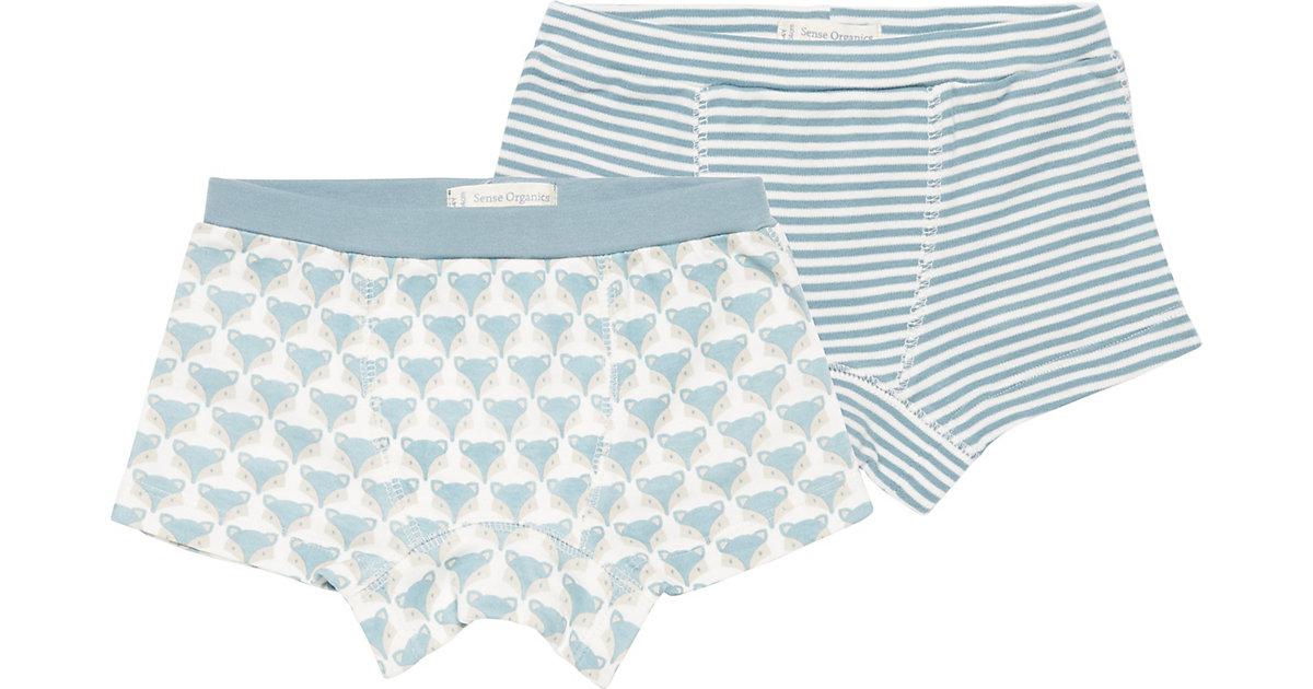 Sense Organics · Boxershorts PRINCE Doppelpack , Organic Cotton Gr. 116 Jungen Kinder