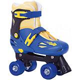 Роликовые коньки-квады Moby Kids сине-желтые