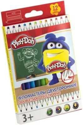 "Двусторонние фломастеры Darpeje ""Play-Doh"", 12 цветов"